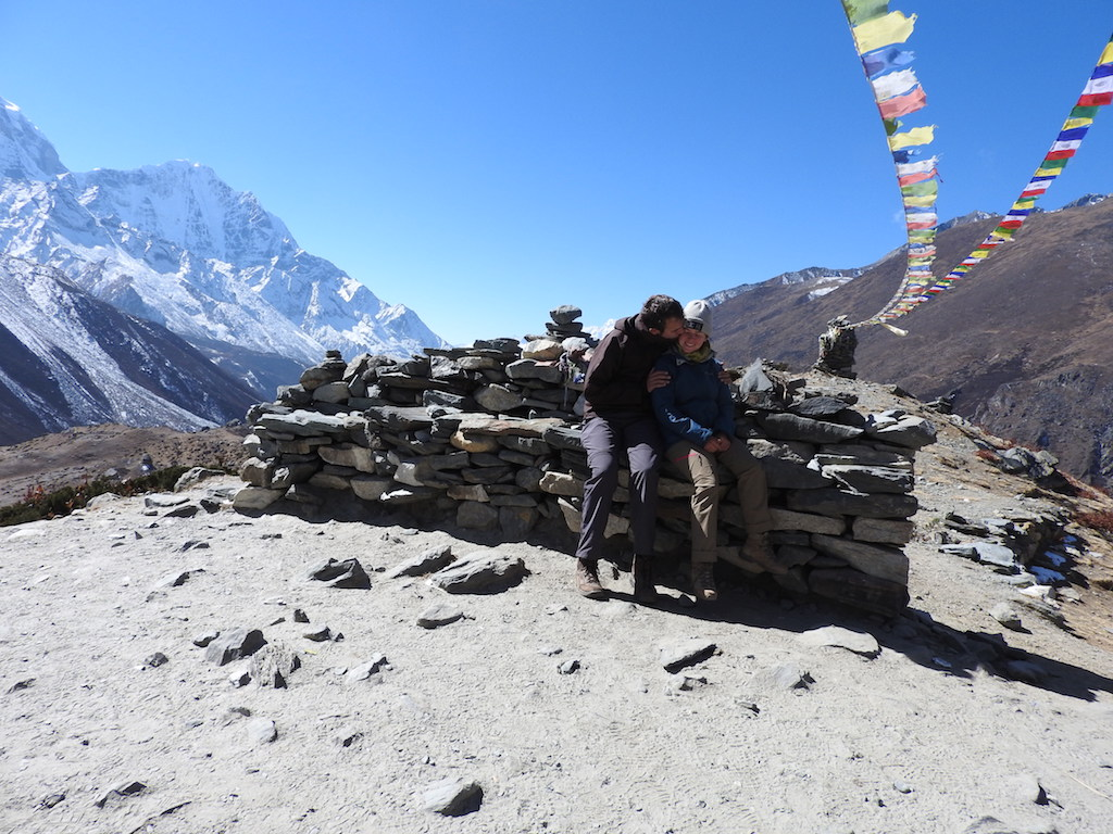 Ann en Manu in Dingboche