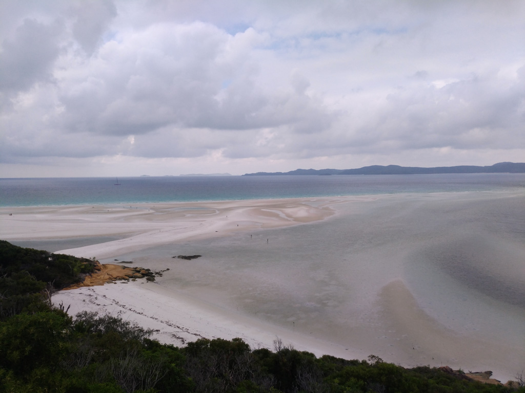 Swirlings sands in Whitsunday National Park